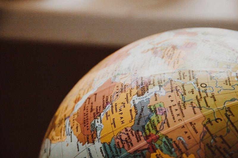 bola mundial terrestre a escala esfera