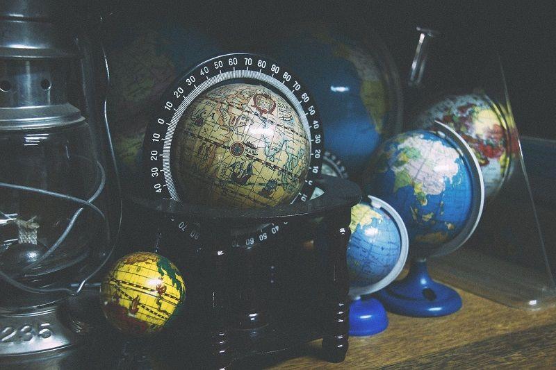 decoracion bolas del mundo globo terrestre a escala
