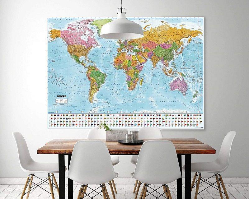 poster mapamundi politico