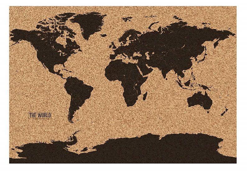 mapamundi corcho negro