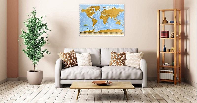 mapamundi decorativo pared