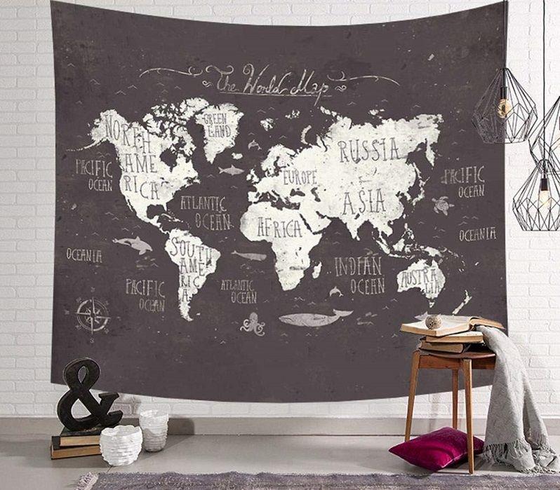 tapiz mapa mundo tela