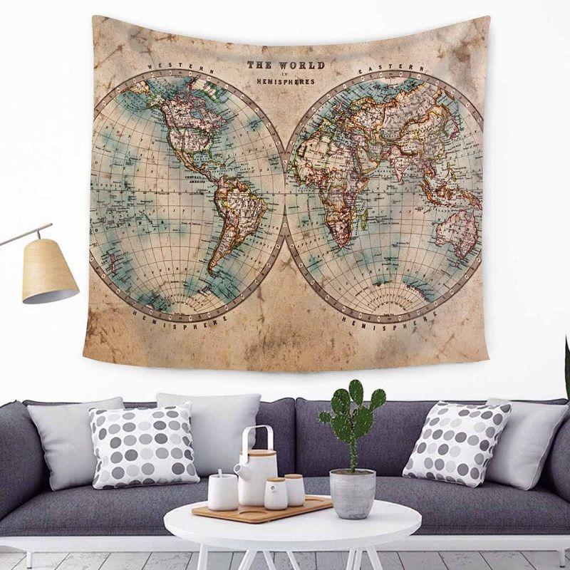 tapiz mapa mundi pared